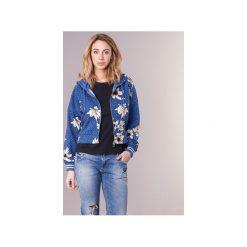Bluzy Only  MARCHE. Czarne bluzy damskie marki ONLY, l, z materiału, z kapturem. Za 143,20 zł.