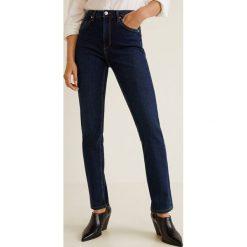 Mango - Jeansy Anna. Niebieskie jeansy damskie z wysokim stanem marki Mango. Za 129,90 zł.