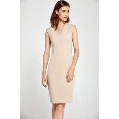 Dopasowana sukienka s87. Brązowe sukienki hiszpanki NIFE, s, bez rękawów, dopasowane. Za 159,00 zł.