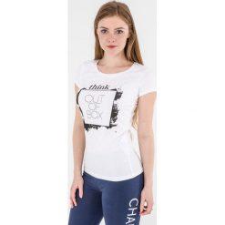 4f Koszulka damska H4L17-TSD003 biała r. L. Białe topy sportowe damskie marki 4f, l. Za 39,00 zł.