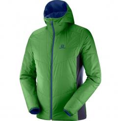 """Kurtka funkcyjna """"Drifter"""" w kolorze niebiesko-zielonym. Czarne kurtki męskie marki Salomon, z gore-texu, na sznurówki, outdoorowe, gore-tex. W wyprzedaży za 400,95 zł."""