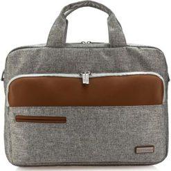 Torby na laptopa: Torba w kolorze szaro-brązowym na laptopa – (S)40 x (W)29 x (G)6 cm