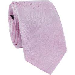 Jedwabny krawat  KWRR000253. Różowe krawaty męskie marki Reserved. Za 129,00 zł.