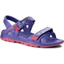 Sandały MERRELL - Hydro Drift MY56495 Fioletowy. Fioletowe sandały dziewczęce marki Merrell, w kolorowe wzory, z materiału. W wyprzedaży za 139,00 zł.