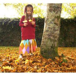 Spódniczki dziewczęce z falbankami: Spódnica midi dziewczynka