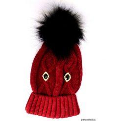 Czapka czerwona z pomponem. Czerwone czapki zimowe damskie Pakamera, na zimę. Za 78,00 zł.