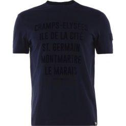 Emporio Armani Tshirt z nadrukiem blu scuro. Niebieskie koszulki polo Emporio Armani, m, z nadrukiem, z bawełny. Za 369,00 zł.