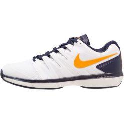 Nike Performance AIR ZOOM PRESTIGE HC Obuwie multicourt white/orange peel/blackened blue/phantom. Białe buty do tenisa męskie marki Nike Performance, z gumy. Za 419,00 zł.
