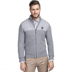 Sweter URBANO SWPR000222. Szare swetry rozpinane męskie marki Giacomo Conti, na jesień, m, z bawełny. Za 399,00 zł.