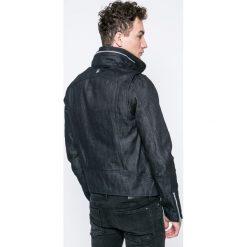 G-Star Raw - Kurtka. Czarne kurtki męskie przejściowe marki G-Star RAW, l, z bawełny, retro. W wyprzedaży za 649,90 zł.