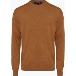 Andrew James - Sweter męski z dodatkiem kaszmiru, beżowy. Brązowe swetry klasyczne męskie Andrew James, m, z kaszmiru. Za 229,95 zł.