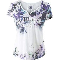 T-shirty damskie: Koszulka w kolorze biało-fioletowym