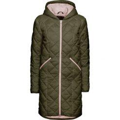 Płaszcz pikowany bonprix oliwkowo-pastelowy jasnoróżowy. Zielone płaszcze damskie pastelowe bonprix. Za 149,99 zł.