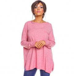 """Sweter """"Kymie"""" w kolorze jasnoróżowym. Czerwone swetry oversize damskie marki So Cachemire, s, z kaszmiru. W wyprzedaży za 173,95 zł."""