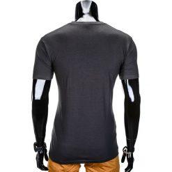 T-SHIRT MĘSKI Z NADRUKIEM S814 - GRAFITOWY. Szare t-shirty męskie z nadrukiem Ombre Clothing, m, z bawełny. Za 29,00 zł.
