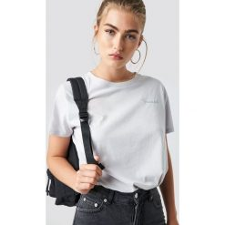 T-shirty damskie: NA-KD Trend T-shirt oversize Secret - Grey