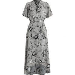 Karen by Simonsen VIOLANTA DRESS Długa sukienka grey. Szare długie sukienki Karen by Simonsen, z materiału, z długim rękawem. Za 759,00 zł.
