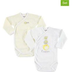 Body niemowlęce: Body (2 szt.) w kolorze białym i żółtym
