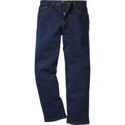 Dżinsy Classic Fit Straight bonprix ciemnoniebieski. Niebieskie jeansy męskie regular bonprix. Za 89,99 zł.