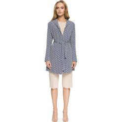 JARDENA Płaszcz wiązany. Brązowe płaszcze damskie pastelowe Stylove, z nadrukiem, z tkaniny, eleganckie. Za 279,00 zł.