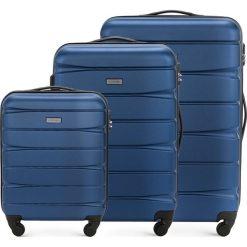 Zestaw walizek 56-3A-36S-90. Niebieskie walizki marki Wittchen. Za 555,21 zł.