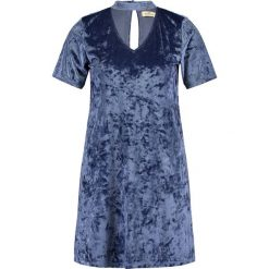 Sukienki: Hollister Co. VELVET T SHIRT DRESS Sukienka z dżerseju midnight blue