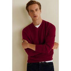 Mango Man - Sweter Tenv. Brązowe swetry klasyczne męskie Mango Man, l, z bawełny. Za 139,90 zł.