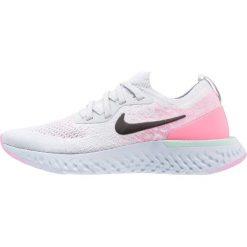 Nike Performance EPIC REACT FLYKNIT Obuwie do biegania treningowe pure platinum/black/hydrangeas blue/pink. Czarne buty do biegania damskie marki Nike Performance, l, z materiału. W wyprzedaży za 383,40 zł.