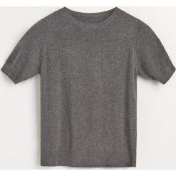 Sweter z krótkimi rękawami - Szary. Szare swetry klasyczne damskie marki Reserved, m. Za 99,99 zł.