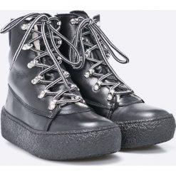 Sixtyseven - Botki. Szare buty zimowe damskie Sixtyseven, z materiału, na obcasie, na sznurówki. W wyprzedaży za 339,90 zł.