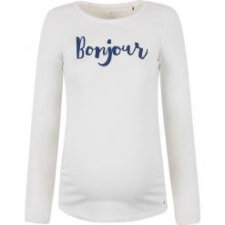 Koszulka ciążowa w kolorze białym. Białe bluzki ciążowe bellybutton, m, z nadrukiem, z okrągłym kołnierzem, z długim rękawem. W wyprzedaży za 86,95 zł.