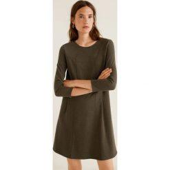 Mango - Sukienka Pique. Brązowe sukienki mini Mango, na co dzień, l, z elastanu, casualowe, z okrągłym kołnierzem, proste. Za 139,90 zł.