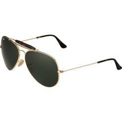 RayBan OUTDOORSMAN II Okulary przeciwsłoneczne gold/dark green. Żółte okulary przeciwsłoneczne damskie lenonki Ray-Ban. Za 579,00 zł.