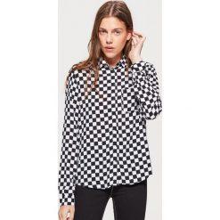 Koszula w szachownicę - Czarny. Czarne koszule damskie marki Cropp, l. Za 49,99 zł.