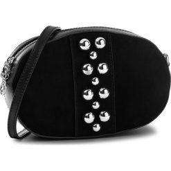 Torebka KAZAR - Fina 31956-04-00  Black. Czarne listonoszki damskie Kazar, w paski, z materiału, na ramię. W wyprzedaży za 399,00 zł.