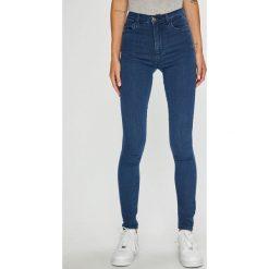 Only - Jeansy. Szare rurki damskie marki ONLY, s, z bawełny, casualowe, z okrągłym kołnierzem. Za 119,90 zł.