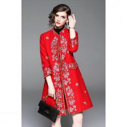 Płaszcz w kolorze czerwonym. Czerwone płaszcze damskie marki Zeraco. W wyprzedaży za 419,95 zł.
