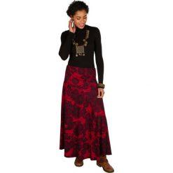 Długie spódnice: Spódnica w kolorze czerwono-czarnym