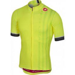 Castelli Koszulka Podio Doppio Jersey Fz Yellow Fluo, Xxl. Żółte odzież rowerowa męska Castelli, m. Za 335,00 zł.
