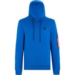 Bluza w kolorze niebieskim. Niebieskie bluzy męskie marki GALVANNI, l, z okrągłym kołnierzem. W wyprzedaży za 129,95 zł.