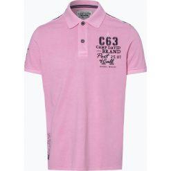 Camp David - Męska koszulka polo, różowy. Fioletowe koszulki polo marki KIPSTA, m, z elastanu, z długim rękawem, na fitness i siłownię. Za 199,95 zł.