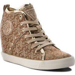 Sneakersy GUESS - FLJLY3 FAL12 BEIBR. Czarne sneakersy damskie marki Guess, z materiału. Za 529,00 zł.