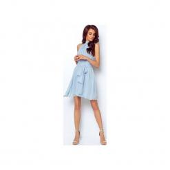 SUKIENKA LIVIA. Niebieskie sukienki na komunię ivon, l, z materiału, z dekoltem halter. Za 239,00 zł.