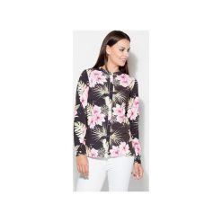 Koszula K400 Wzór 15. Szare koszule jeansowe damskie marki KATRUS, xl, z nadrukiem, bez kołnierzyka. Za 119,00 zł.