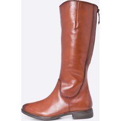 Tamaris - Kozaki. Szare buty zimowe damskie marki Tamaris, z materiału. W wyprzedaży za 269,90 zł.