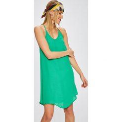 Answear - Sukienka City Jungle. Niebieskie sukienki mini marki bonprix, z nadrukiem, na ramiączkach. W wyprzedaży za 59,90 zł.