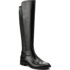 Oficerki GINO ROSSI - Nevia DKG551-G12-E100-9900-F 99. Czarne buty zimowe damskie marki Gino Rossi, z materiału, na obcasie. W wyprzedaży za 369,00 zł.