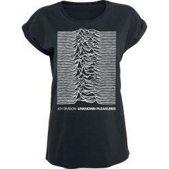 Joy Division Unknown Pleasures Koszulka damska czarny. Czarne bluzki z odkrytymi ramionami marki Joy Division, m, z aplikacjami, klasyczne, z klasycznym kołnierzykiem. Za 74,90 zł.