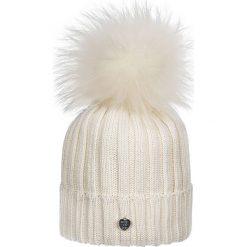 Giamo - Czapka. Szare czapki zimowe damskie Giamo, na zimę, z dzianiny. W wyprzedaży za 149,90 zł.