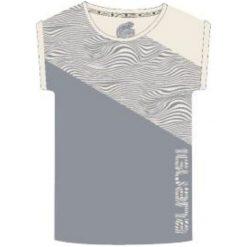 Bluzki asymetryczne: IGUANA Koszulka damska Unathi W Sleet/ Optical Print r. S